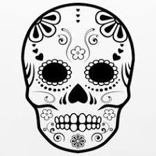 simple sugar skull designs Google Search