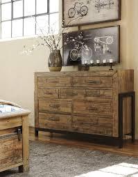 South Shore Libra Dresser White by Ashley Furniture Sommerford Light Grayish Brown Finish 9 Drawer