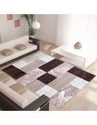 moderner designer wohnzimmer teppich parma 9220 braun