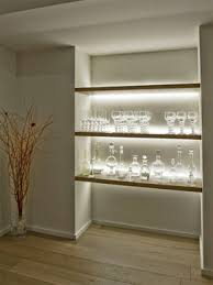 inspired led accent lighting shelving contemporary spaces