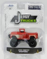 100 20 Trucks 164 JADA TOYS JUST TRUCKS Red 1955 Chevy Stepside Pickup Truck