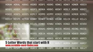 5 letter words that start with H