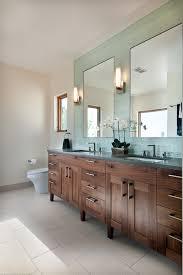 Blue Mosaic Bathroom Mirror by Walnut Bathroom Vanity Bathroom Transitional With Bathroom Mirror