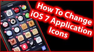 How To Change iOS 7 App Icon Design iPhone 5s 5c 5 iPad and