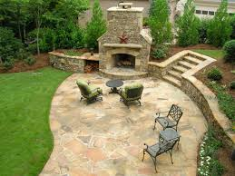Outdoor Living : Awesome Round Centerfireplace And Stone Bench ... Stone Backyard Fire Pit Photo With Cool Pavers Patio Pics On Charming Small Ideas Paver All Home Design Outside Flooring Outdoor Makeovers Pictures Luxury Designs Remodel With Concrete 15 Creative Tips Install Trendy 87 Paving For 1000 About Paved Wonderful The Redesign Gazebo Fire Pit Plans Garden Concept Of Interior