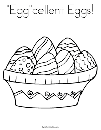 Eggcellent Eggs Coloring Page