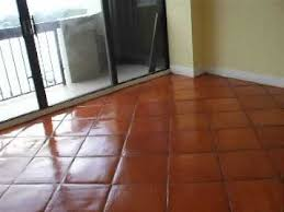 finished mexican terra cotta floor refinish