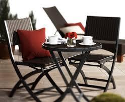 Folding Patio Chairs Amazon by Amazon Com Strathwood Ritta All Weather Wicker 3 Piece Bistro Set