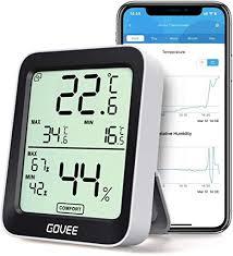 govee thermometer hygrometer innen außen kleiner monitor mini digital hohe präzision sensor luftfeuchtigkeit lcd bluetooth speicher daten haus