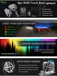 Amazon.com: LED 8pc RGB Truck Bed Lighting Kit, Megulla Multi ... How To Install The Truxedo Blight Tonneau Lighting System Youtube Robin Electronics Truck Bed Recon Lights Does Everyone Hook Up Their Bed Lighting Amazoncom Tailgate Accsories Exterior Of A Recon Rail Light Kit Adventure Album On Imgur Soft Trifold Cover For 092017 Dodge Ram 1500 Pickup 2015 F150 Boxlink Ford Is Good In The News Wheel Rack Active Cargo Bracket Truxedo 1704998 Black Battery Powered Dualliner Liner Component