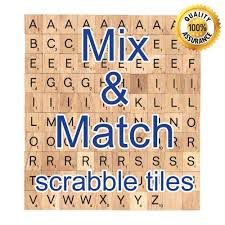 Wooden Pick And Mix CHOOSE YOUR OWN Scrabble Letters Number