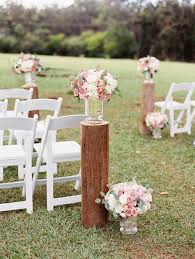 Peach Rustic Ceremony Florals By Passion Roots