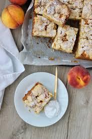 pfirsich streuselkuchen vegan vegan crumble cake