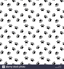 cat paw prints cat paw print seamless pattern stock vector illustration