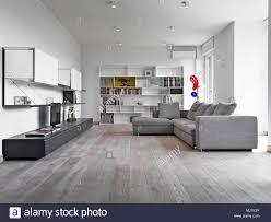 interieur schüsse eines modernen wohnzimmer mit grauer stoff
