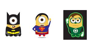 Minion Superhero Cliparts