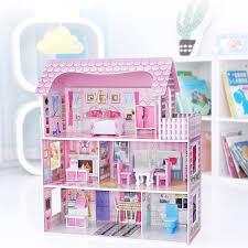 Lot 4set Bathroom Room Bedroom Kitchen Wooden Doll House Furniture