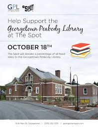 The Spot Fundraiser Wed Oct 18 Geor own Peabody Library