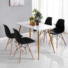 akalnny 4er set esszimmerstühle skandinavischer stil schwarz