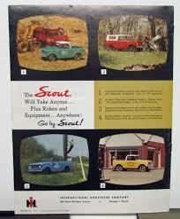 1961 International Harvester Truck Model Scout Sales Brochure