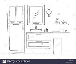 das badezimmer skizze badezimmer möbel und waschbecken