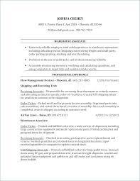 Resume For Warehouse Worker Free Creerpro