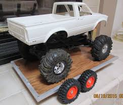 RC Rock Crawler Car Truck Hauler Trailer. Brushed Aluminium, Axial ...