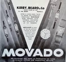 Movado Mini Desk Clock by Original 1930 Movado Watch Art Deco Time Pieces Ad Print