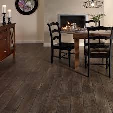Mannington Restoration Arcadia Smoke Wood Look Laminate Flooring Rustic Dining Room