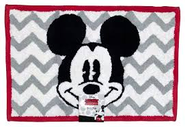 Mickey And Minnie Bathroom Accessories by Amazon Com Disney Mickey Mouse Chevron Tufted Bath Rug Home