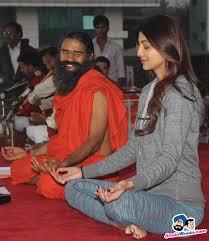 Shilpa Shetty Along With Baba Ramdev