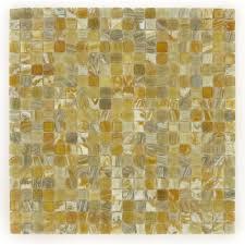 hakatai 5 8 x 5 8 bronze copper glass square tile glossy