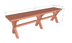 ana white ashley u0027s x bench for x picnic table diy projects