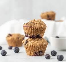 vegane protein muffins mit blaubeeren