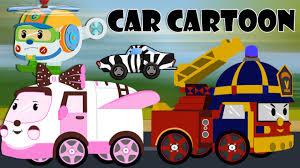 Car Cartoons For Children - Police Car Cartoon - Fire Trucks For ...