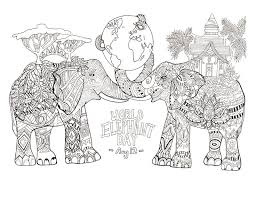 Coloring Page Drawn By Rylee Postulo For The World Elephant Day Aug From Gallery Animals Davlin Publishing