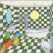 cozy bathroom vector image