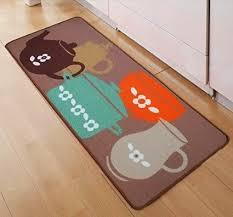 tapis deco sol cuisine pas chers absorbant lavables et