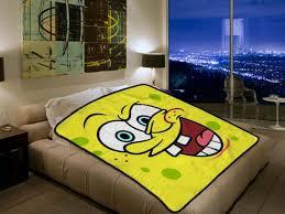Spongebob Bedroom Set by Spongebob Squarepants 1596 Polar Fleece Blanket Throw Bedroom