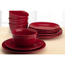 Mainstays Patio Set Red by Dinnerware Sets Walmart Com