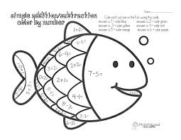 Easy Math Coloring Worksheets