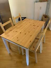 ikea esszimmer küchentisch lerhamn mit 4 ikea stühlen ivar