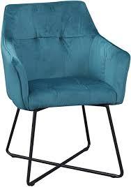 dunord design stuhl esszimmerstuhl türkis mit armlehne industrie design küchenstuhl polsterstuhl