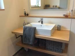 holz bad platte waschtisch eiche massiv baumkante wc ablage