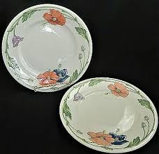 set of 4 villeroy boch 1748 amapola poppy salad plates 8 1