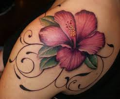 Cool Lily Flower Tattoo On Left Back Shoulder