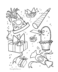 Birthday Party Coloring Page 17 To Color 028