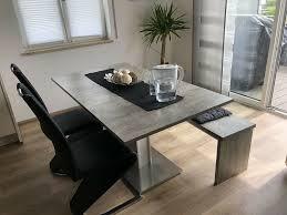 esszimmer tisch ausziehbar mit stühlen und bank