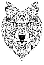 Grand Loup Coloriages DAnimaux 100 Mandalas Zen Antistress