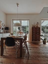 wohnzimmer vintage holzboden esszimmer mixandma